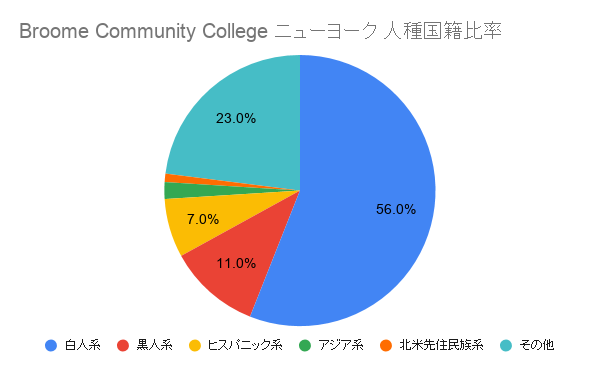 Broome Community College ニューヨーク国籍比率