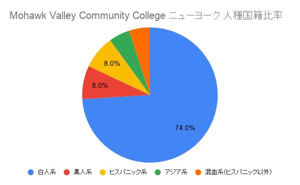Mohawk Valley Community College ニューヨーク国籍比率