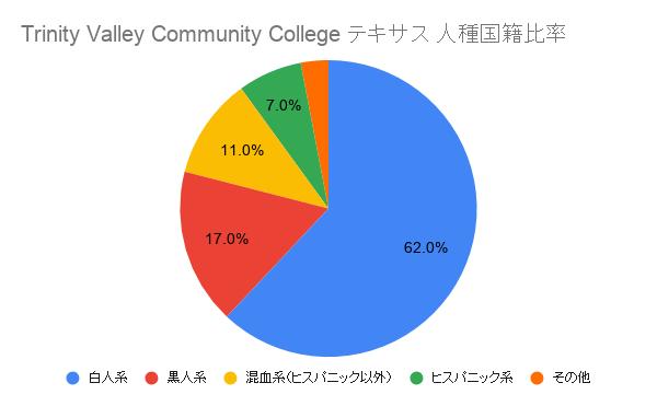 Trinity Valley Community College テキサス国籍比率