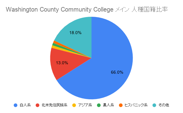 Washington County Community College メイン国籍比率
