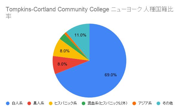 Tompkins-Cortland Community College ニューヨーク国籍比率