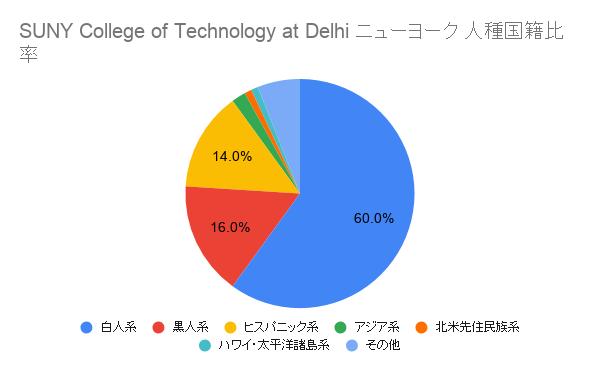 SUNY College of Technology at Delhi ニューヨーク国籍比率