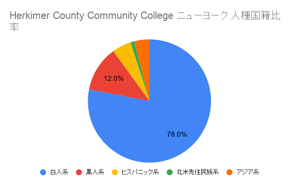 Herkimer County Community College ニューヨーク国籍比率