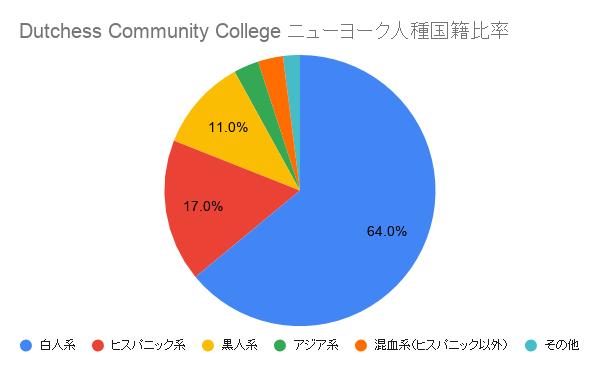 Dutchess Community College ニューヨーク国籍比率