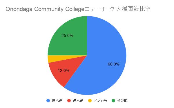 Onondaga Community College ニューヨーク国籍比率