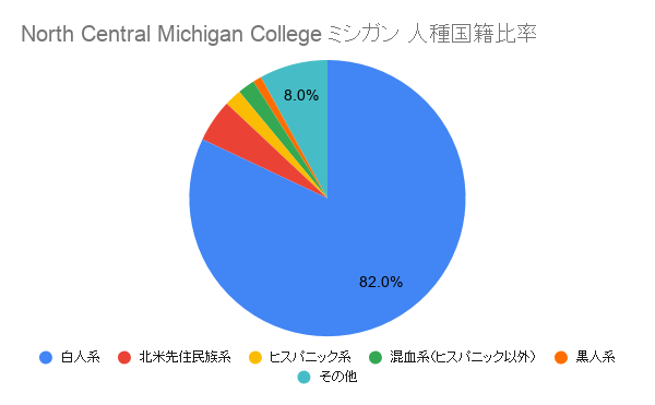 North Central Michigan College ミシガン国籍比率