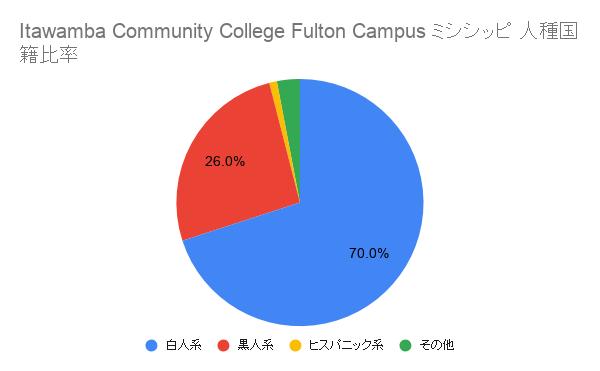 Itawamba Community College Fulton Campusミシシッピ国籍比率